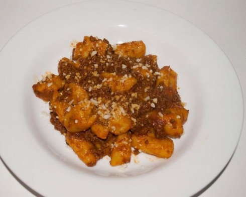 Sweet Potato Gnocchi with a Chorizo Ragu