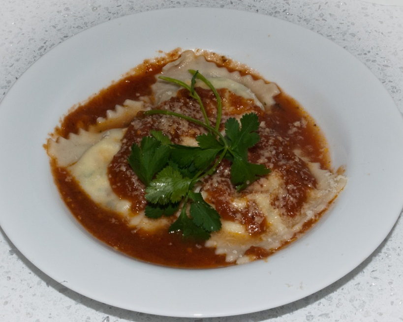 Requeson and Cilantro Ravioli
