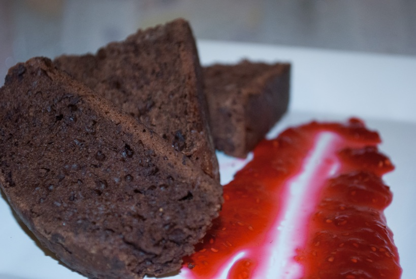Chocolate and Chile Ancho Bread with Fresh Raspberry Preserves
