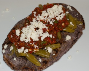 Blue Corn Tlacoyo