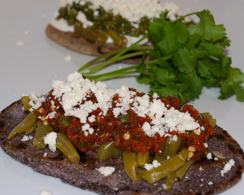 Blue Corn Tlacoyos